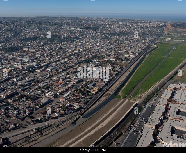 Us Mexico Border Fence Aerial Stock Photos Us Mexico Border - Aerial maps over mexican us border