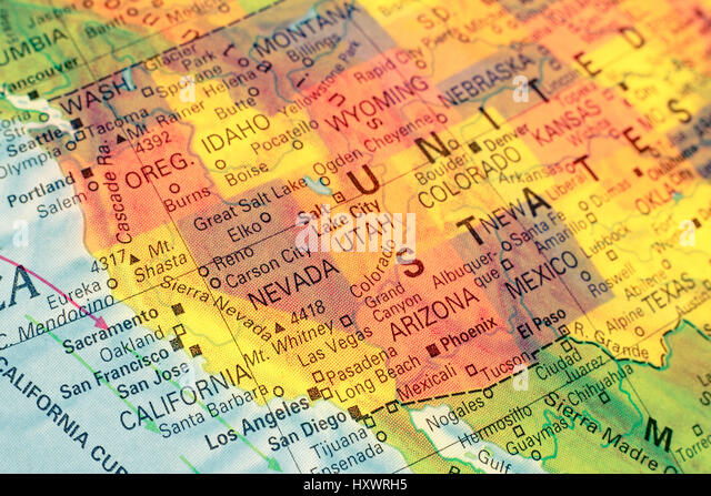 Map Of San Diego Stock Photos Map Of San Diego Stock Images Alamy - San diego us map close to mexico