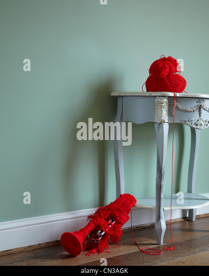 Trumpet Covered In Red Wool   Stock Image