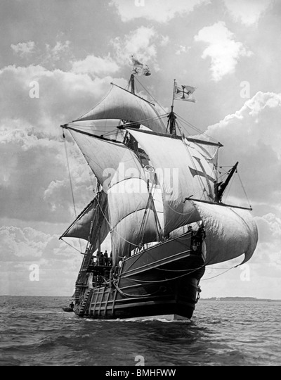 Caravel ship stock photos caravel ship stock images alamy spanish caravel santa maria replica of columbus ship that sailed to the new world publicscrutiny Choice Image