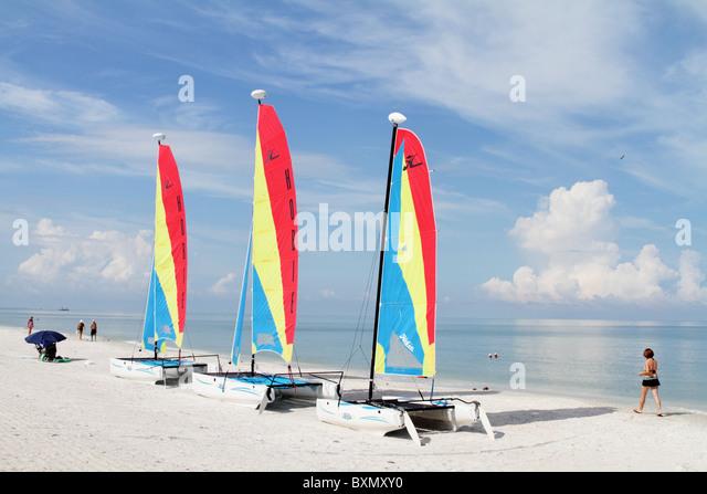 catamaran-sailboats-on-beach-at-marco-is