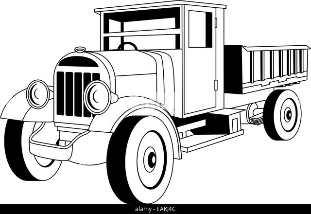 lorry vintage black and white stock photos  u0026 images