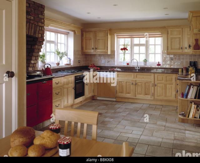 Granite worktops stock photos granite worktops stock for Traditional english kitchen
