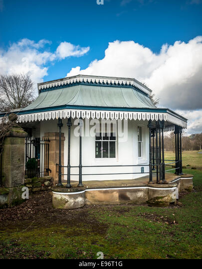 White Lodge gatehouse was built in 1855 by Joseph Paxton on the Chatsworth  estate, Derbyshire