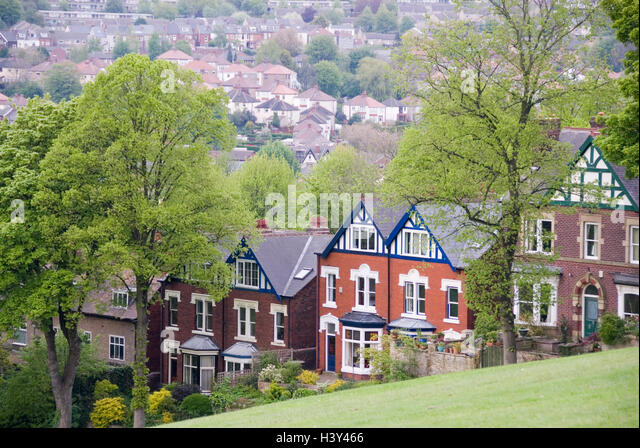 Sheffield UK 03 May 2014 Homes On The Hillside Enjoy Stunning Views Over