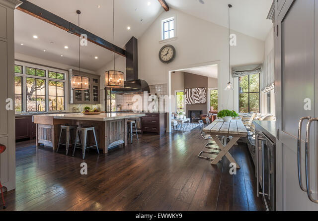 Kitchen With Vaulted Ceiling Stock Photos Kitchen With Vaulted