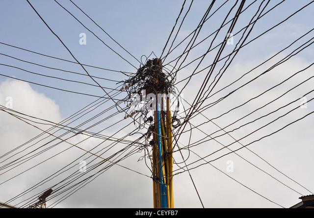 Entangled Electricity Wires Stock Photos & Entangled Electricity ...
