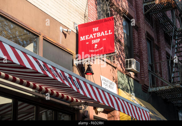 The Meatball Shop On Lower East Side Of Manhattan In New York City