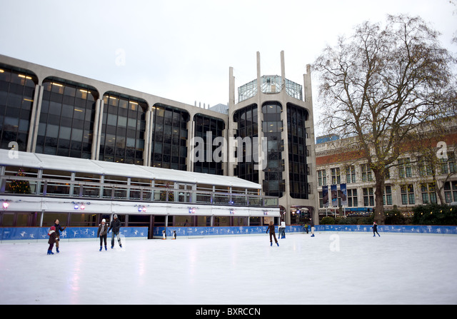 Ice Skating Rink Outside The Natural History Museum