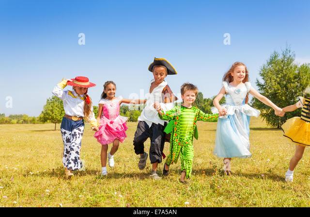Boy Girl Wearing Halloween Costume Stock Photos U0026 Boy Girl Wearing Halloween Costume Stock ...
