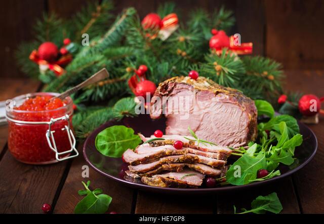 christmas ham dinner table - photo #29