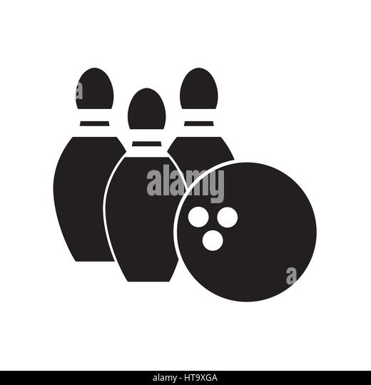 color bowling pin ball icon stock image - Bowling Pictures To Color