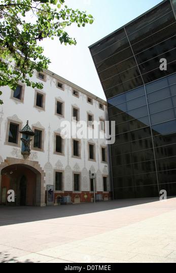 spain barcelona cultural centre cccb glass facade
