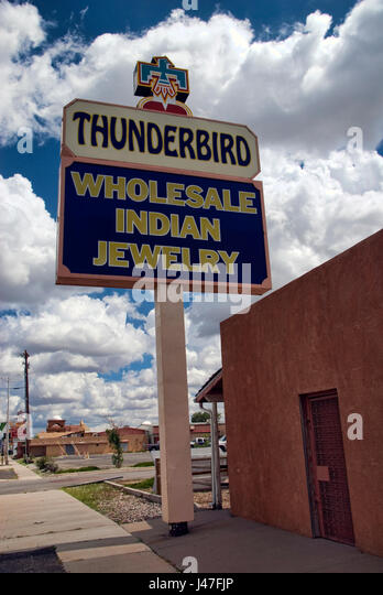 Route 66 indian stock photos route 66 indian stock for Thunderbird jewelry albuquerque new mexico