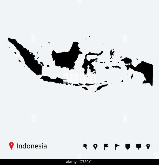 Indonesia Map Stock Vector Images Alamy