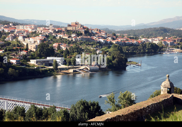 Country Border Portugal Spain Stock Photos Country Border - Valenca portugal map
