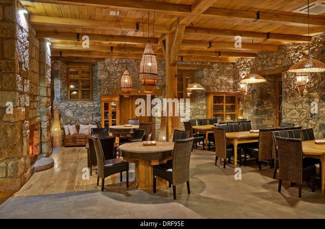 Interior of german restaurant stock photos
