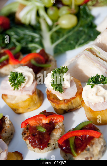 Function catering stock photos function catering stock for Canape sandwich