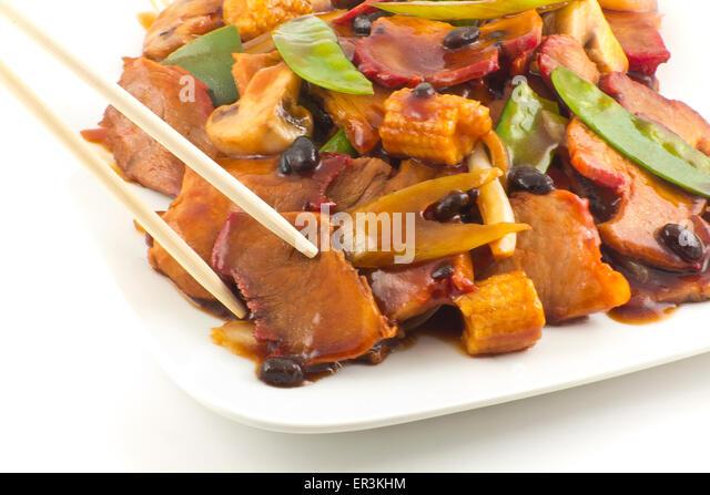 Black Bean Stir Fry Stock Photos & Black Bean Stir Fry ...