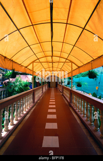 Wonderful MBT 62355 : Hotel Corridor ; Canvas Roof ; Mahad ; Maharashtra ; India    Stock