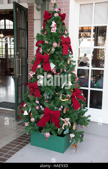 Decorated Christmas Tree Outside Stock Photos Decorated