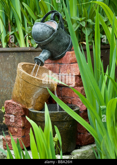 Garden water feature stock photos garden water feature for Ornamental garden features