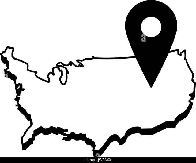 Usa Map Stock Vector Images Alamy - Us map outline vector