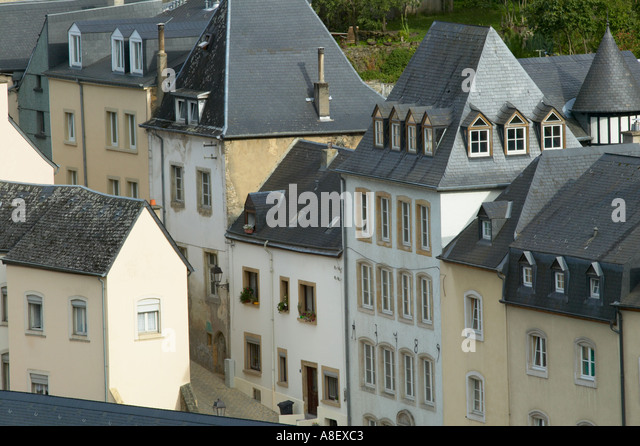 Luxembourg houses in grund stock photos luxembourg for Luxembourg house