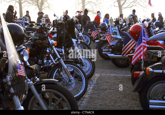 Hells Angels Toys For Tots : Motorcycles and parade stock photos