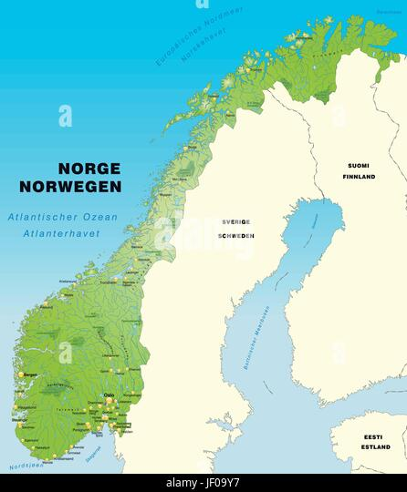 Map Norway Stock Photos Map Norway Stock Images Alamy - Norway map world