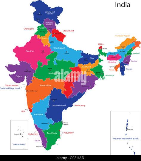 India Map Stock Photos & India Map Stock Images - Alamy