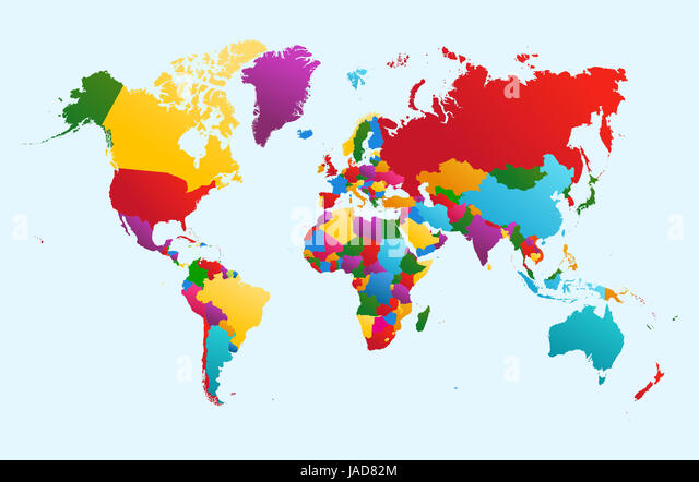 World map vector countries stock photos world map vector countries world map colorful countries atlas illustration eps10 vector file organized in layers for easy gumiabroncs Gallery