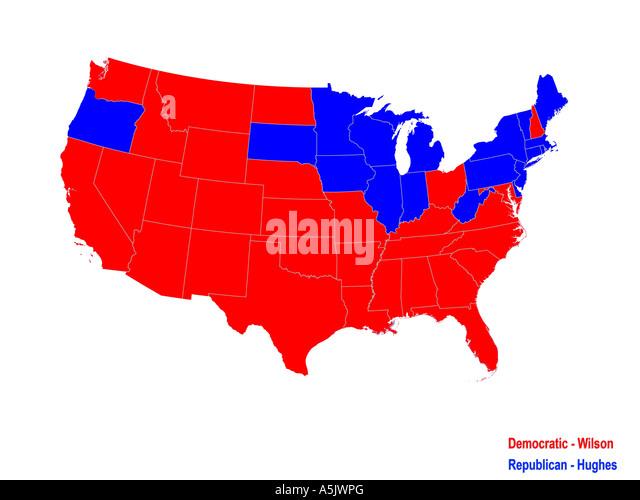 Electoral College Map Stock Photos Electoral College Map Stock - Us electoral college map 1992