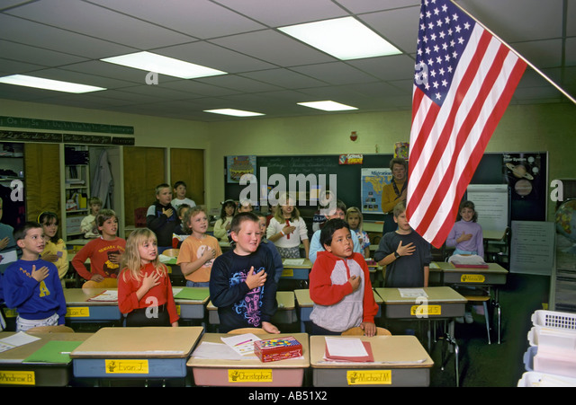 Pledge Allegiance Children Stock Photos & Pledge ...