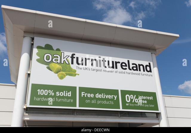 Oak Furnitureland Signage   Stock Image