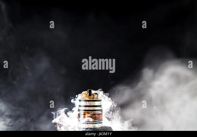 Dissassembled electronic Cigarette smoke - Stock Image
