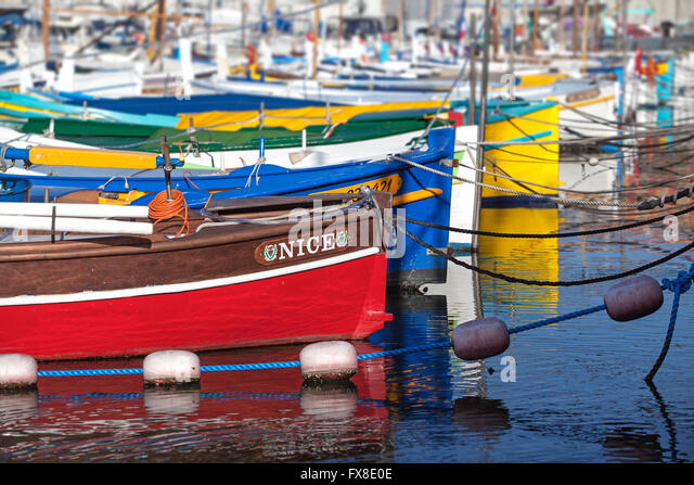 Colourful boats stock photos colourful boats stock for Nice fishing boats