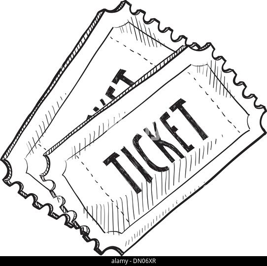 popcorn hair style event ticket sketch stock photos amp event ticket sketch 5942