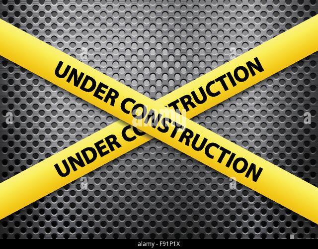 Under Construction Tape Background Caution Tape St...