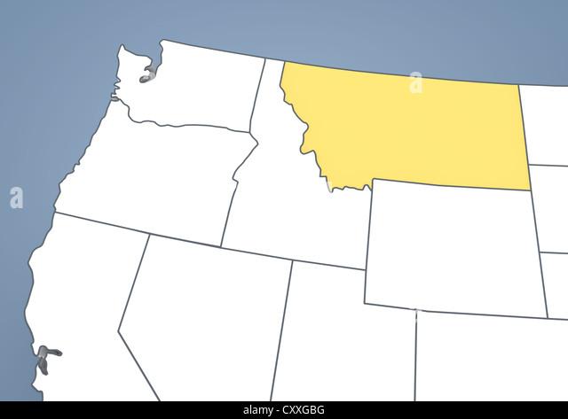 Map Of Montana Stock Photos Map Of Montana Stock Images Alamy - Montana usa map