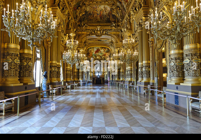 Le Grand Foyer Opera Garnier : Baudry stock photos images alamy