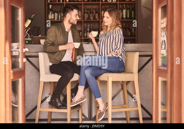 Full Length Couple Bar Counter Stock Photos Amp Full Length