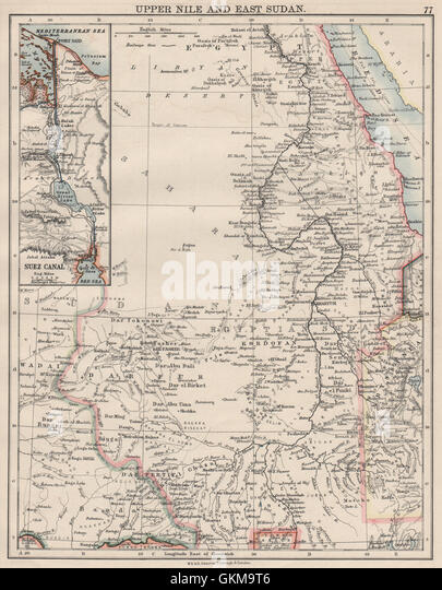 Map Of The Suez Canal Stock Photos  Map Of The Suez Canal Stock