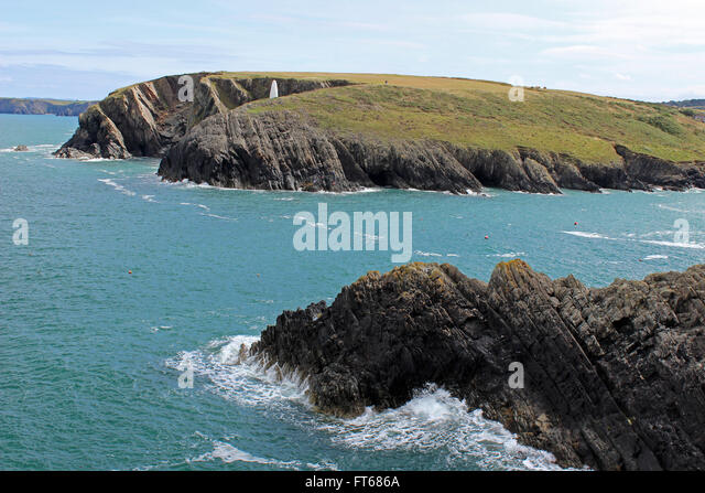 Porthgain Pembrokeshire Tourism Coast Stock Photos
