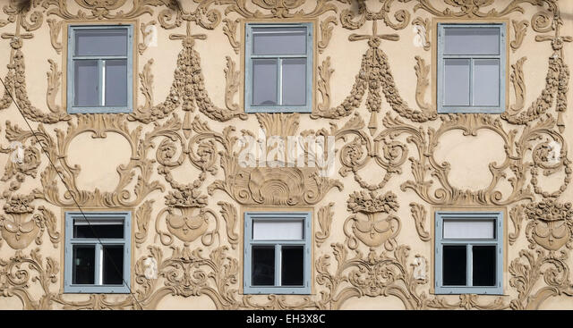 Stucco facade stock photos stucco facade stock images for Stucco facade