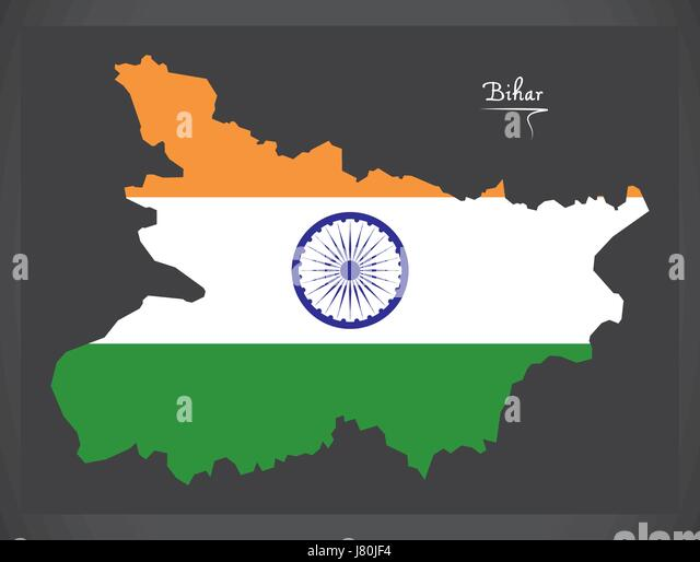 India Flag Map: Indian Flag Map Illustration Stock Photos & Indian Flag