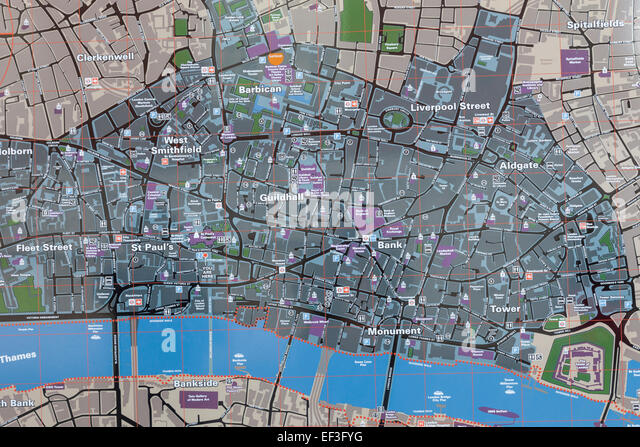 England London Street Map City Stock Photos: The City Of London Map At Infoasik.co
