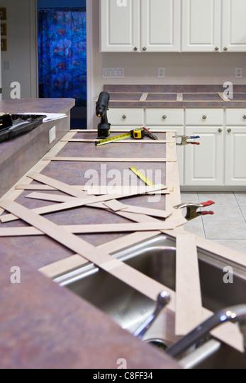 template for granite countertops - granite kitchen top stock photos granite kitchen top
