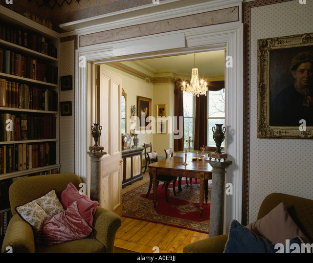 Traditional Interiors Livingrooms Doors Stock Photos