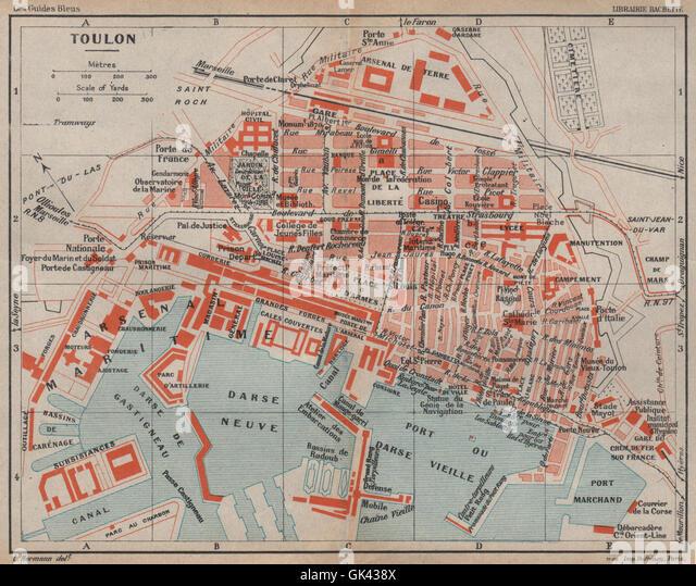 Toulon Antique Town City Map Stock Photos Toulon Antique Town City